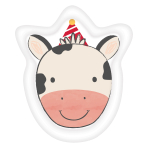Barnyard Birthday Cow Shaped Paper Plates 18cm - 12 PKG/8