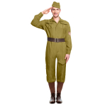 Wartime Soldier Costume - Size Standard - 1 PC