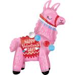 "Standing Valentine Llama Foil Multi Balloons 18""/45cm x 22""/55cm A70 - 6 PC"
