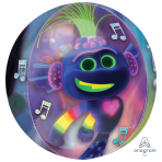 "Trolls World Tour Clear Orbz Foil Balloons 15""/38cm w x 16""/40cm h G40 - 5 PC"