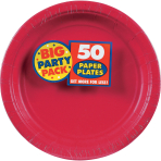 Apple Red Paper Plates 23cm - 6 PKG/50