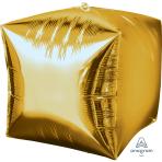 """Cubez Gold Unpackaged Foil Balloons 15""""/38cm G20 - 3 PC"""