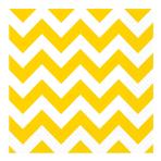 Sunshine Yellow Chevron Luncheon Napkins 33cm - 12 PKG/16
