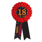 18th Birthday Award Ribbon - 6 PKG