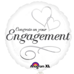 Two Hearts Engagement Standard Foil Balloons S40 - 5 PC