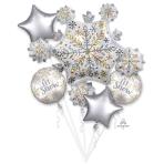 Shining Snow Foil Balloon Bouquets P75 - 3 PC