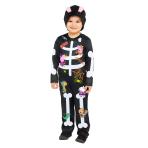 Peppa Pig Skeleton Costume - 4-6 Years - 1 PC