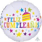 Feliz Cumpleaños Stars Standard Foil Balloons S40 - 5 PC