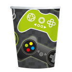 Level Up Paper Cups 250ml - 6 PKG/8