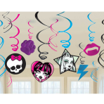 Monster High Swirl Decorations - 6 PKG/12