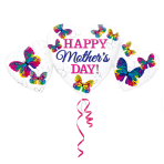 Mother's Day Heart Trio SuperShape Foil Balloons P30 - 5 PC