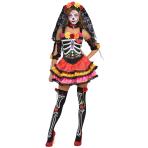 Day Of The Dead Señorita Skeleton Costume - Size 16-18 XL - 1 PC