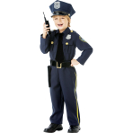 Children Police Officer Costume - Age 4-6 Years - 1 PC