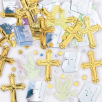 Rejoice Crosses Metallic Confetti 14g - 12 PC