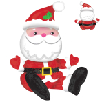 "Sitting Santa Multi Balloons 19""/48cm w x 21""/53cm h A70 - 6 PC"