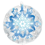 "Snowflake Insiders Balloons 24""/60cm w x 24""/60cm h P45 - 5 PC"