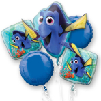 Finding Dory Foil Balloon Bouquets P75 - 3PC