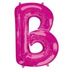 """Letter B Pink SuperShape Foil Balloons 34""""/""""86cm P50 - 5 PC"""