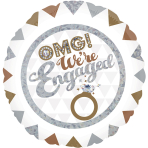 OMG! We're Engaged Holographic Standard Foil Balloons S40 - 5 PC