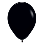 "Fashion Colour Solid Black 080 Latex Balloons 12""/30cm - 25 PC"