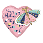 "Happy Mother's Day Butterfly & Heart Multi-Balloon XL Foil Balloons 26""/66cm x 24""/60cm P45 - 5 PC"
