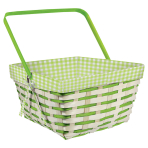 Gingham Bamboo Basket 30.5 x 30.5 x 14 cm - 6 PC