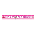 Minnie Mouse Happy Birthday Foil Banner    - 4.5m 6 PKG