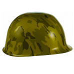 Camouflage Plastic Hat - 12 PC