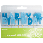 Happy 1st Birthday Boy Pick Candles - 6 PKG/14