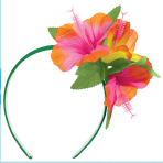 Hawaiian Hibiscus Headbands - 6 PC