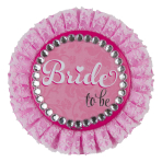 Hen Party Bride to be Deluxe Badge 11cm - 6 PC