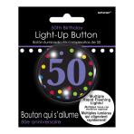 50th Flashing Badges 5.7cm - 6 PC