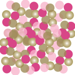 Pink First Holy Communion Confetti 14g - 6 PC