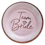 Team Bride Paper Plates 23cm - 6 PKG/8