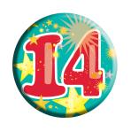 Age 14 Generic Badge  - 6.2cm - 6 PKG