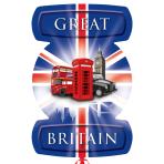 """Great Britain London Icons SuperShape Foil Balloons 21""""/53cm w x 24""""/61cm h P35 - 5 PC"""