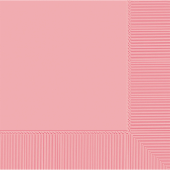 Baby Pink Luncheon Napkins 33cm 2ply - 12 PKG/50