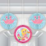 Woodland Princess Honeycomb Decorations - 6 PKG/3