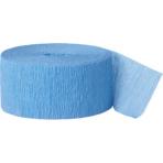Baby Blue Crepe Streamers 4.4.cm x 24.7m - 12 PKG