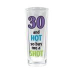 30th Tall Shot Glasses 80ml - 12 PC