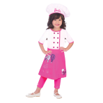 Barbie Chef Costume - Age 8-10 Years - 1 PC