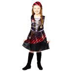 Pirate Girl Sustainable Costume - Age 8-10 Years - 1 PC