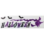 Purple Halloween Gel Clings 15.5cm x 53cm - 12 PC