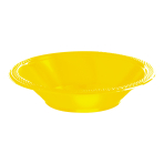 Sunshine Yellow Plastic Bowls 355ml- 10 PKG/20