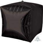 """Cubez Black Unpackaged Foil Balloons 15""""/38cm G20 - 3 PC"""