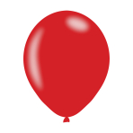 "Metallic Red Latex Balloons 11""/27.5cm - 10PKG/10"