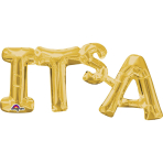 """It's A"" Phrase Gold SuperShape Foil Balloons 20""/50cm x 9""/22cm S55 - 5 PC"