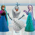Frozen Honeycomb Decorations - 6 PKG/3