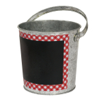 Picnic Party Galvanised Chalkboard Bucket 12cm - 18 PC