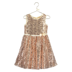 Belle All Over Gold Sequin Dress - Age 5-6 Years - 1 PC
